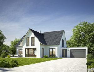 Haus Standard wei mit Garage